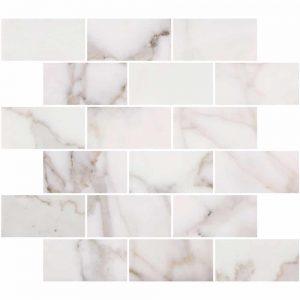 """Bianco Carrara 2""""x4"""" Marble Mosaic 9 calacatta gold 2x4 marble mosaic"""