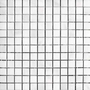 """White Carrara 1""""x1"""" Marble Mosaic 7 white carrara 1x1 marble mosaic 1"""