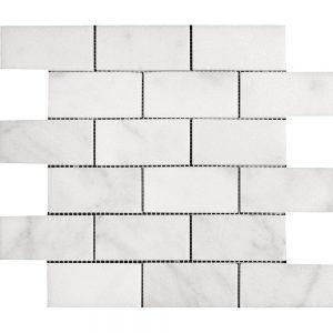 """White Carrara 2""""x4"""" Subway Marble Mosaic 11 white carrara 2x4 marble mosaic"""