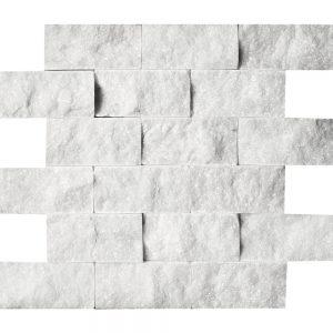 """White Carrara 2""""x4"""" Splitface Ledger 19 white carrara 2x4 splitface ledger"""