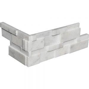 White Carrara 3D Honed Ledger Corner 20 white carrara 3d honed ledger corner