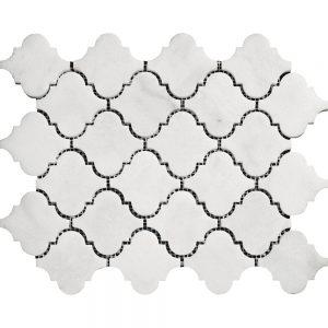 White Carrara Arabesque Marble Mosaic 13 white carrara arabesque marble mosaic