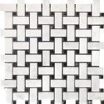 White Carrara Basketweave Marble Mosaic 1 white carrara basketweave marble mosaic