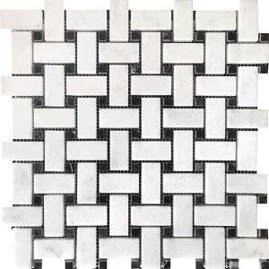 White Carrara Basketweave Marble Mosaic 14 white carrara basketweave marble mosaic