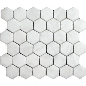 White Carrara Hexagon Marble Mosaic 5 white carrara hexagon marble mosaic