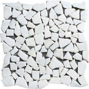 White Carrara Pebble Marble Mosaic 17 white carrara pebble marble mosaic