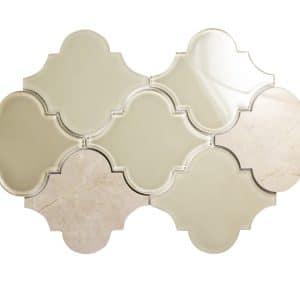 Clover Crema Mix Mosaic 6 clover crema mix mosaic