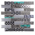 Core Grey Glass Mosaic 1 core grey glass mosaic