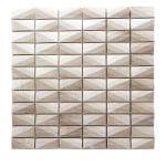 Diamond White Wood Marble Mosaic 1 diamond white wood marble mosaic